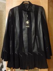 куртка женская из замши и кожи