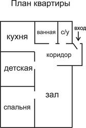 Продам 3-х комнатную квартиру в центре с.Сергеевки