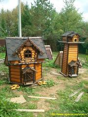 Резные домики для колодцев. Колодцы Можайск. Загородное водоснабжение.